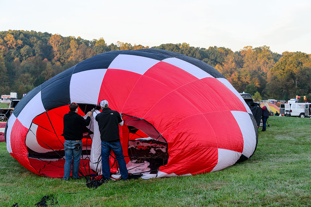 Inflating Balloons at Carolina BalloonFest