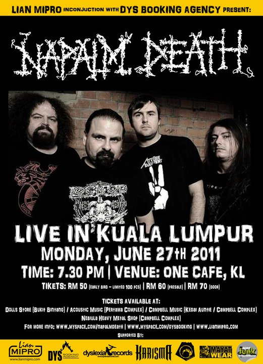 Event Napalm Death In Malaysia