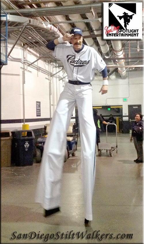 San Diego stilt walkers padres baseball Petco Park