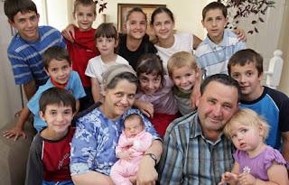 Feodor Vassilyev, su mujer y algunos de sus 69 hijos
