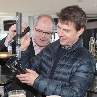 'Oblivon' star Tom Cruise has learnt how to pour the perfect pint of Guinness