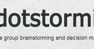 Try Dotstorming for Brainstorming and Voting on Ideas