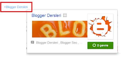 Blogger Yayın İçi Google Plus Etiketleme
