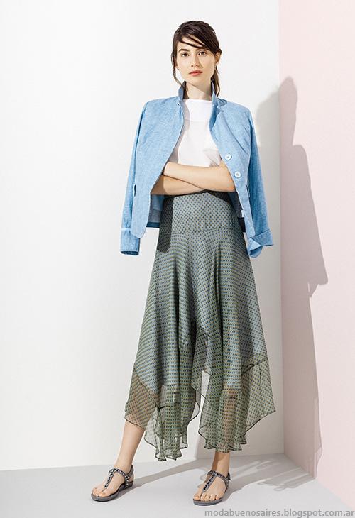 Moda 2016. Faldas de moda 2016 Graciela Naum. Moda verano 2016.