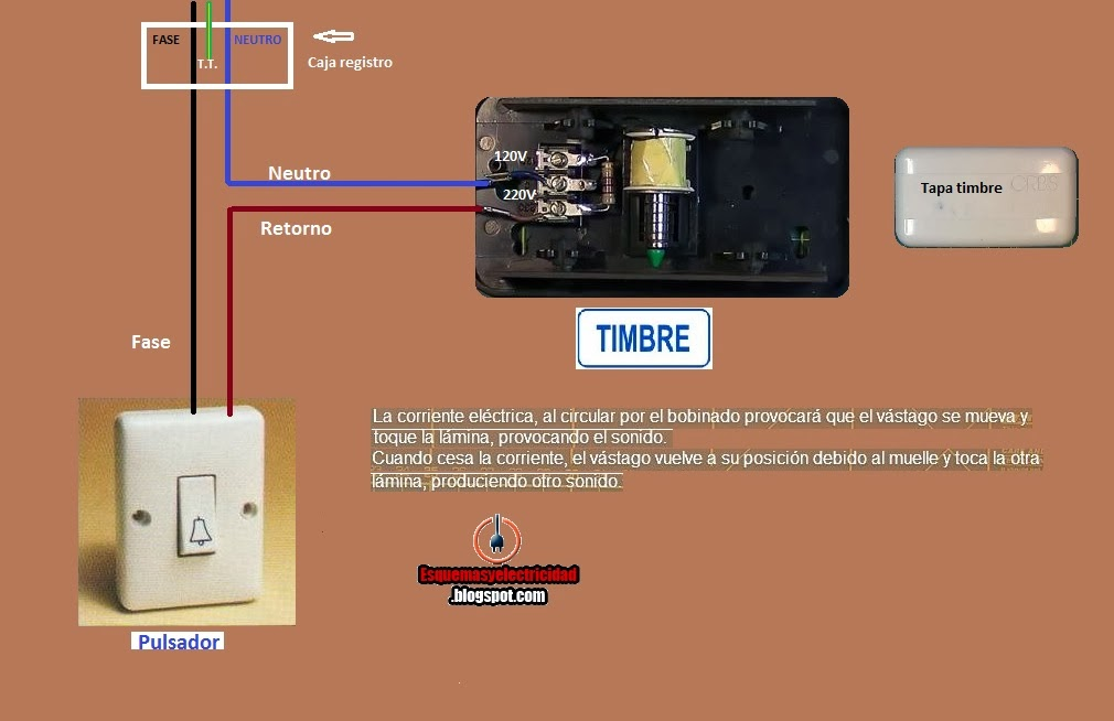 Como conectar timbre din don electrico esquemas el ctricos - Timbre para casa ...