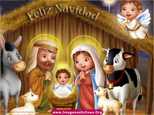 Imagenes bonitas de nacimiento de Jesús con frases navideñas