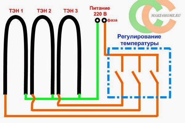 схема включения ТЭНов