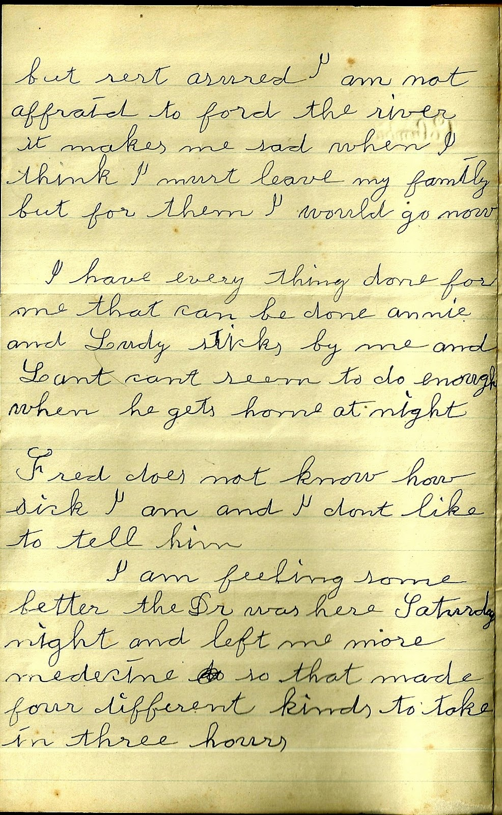 Heirlooms Reunited 1902 Goodbye Letter from Ill Rose Frazier to