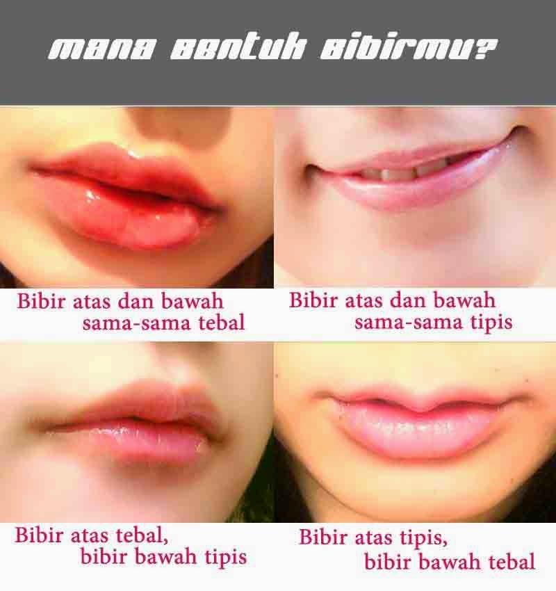 Bibir merah, Bibir seksi, Bibir tebal, Bibir tipis