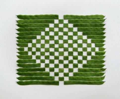 sakir gokcebag fotografia comida vegetais formas geométricas arte