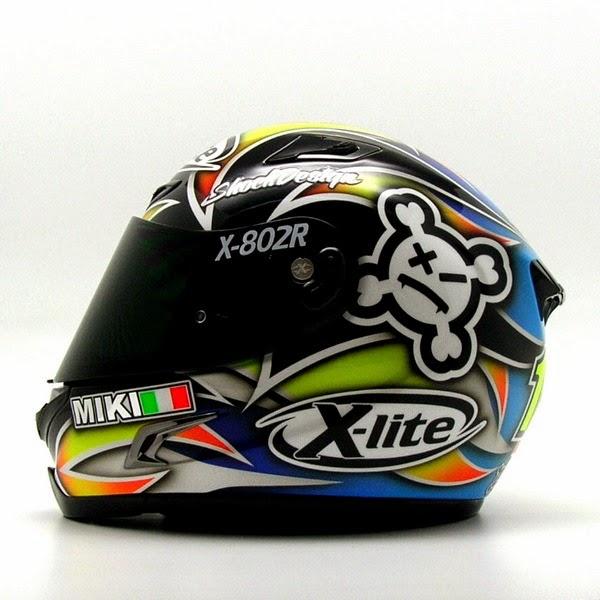 racing helmets garage x lite x 802r m magnoni 2014 by shock design. Black Bedroom Furniture Sets. Home Design Ideas