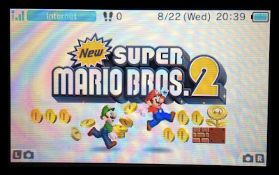 new super mario bros. 2 3ds start screen