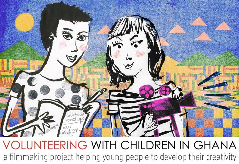 Kate and Kasia volunteer in Ghana