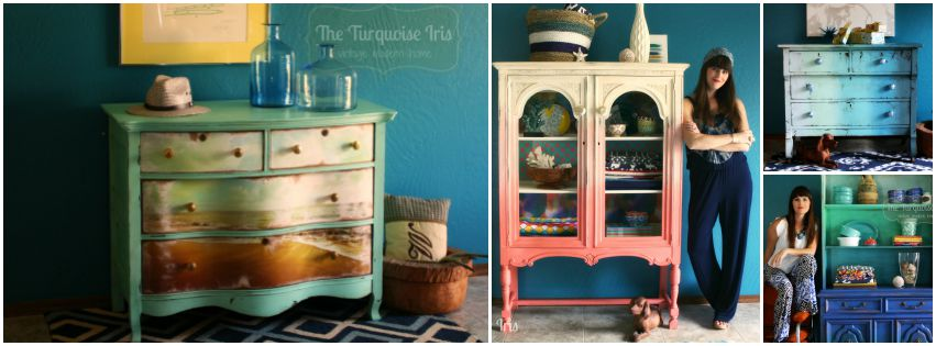 The Turquoise Iris ~ Vintage Modern Home
