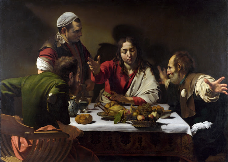 Caravaggio - The Supper at Emmaus (1601)