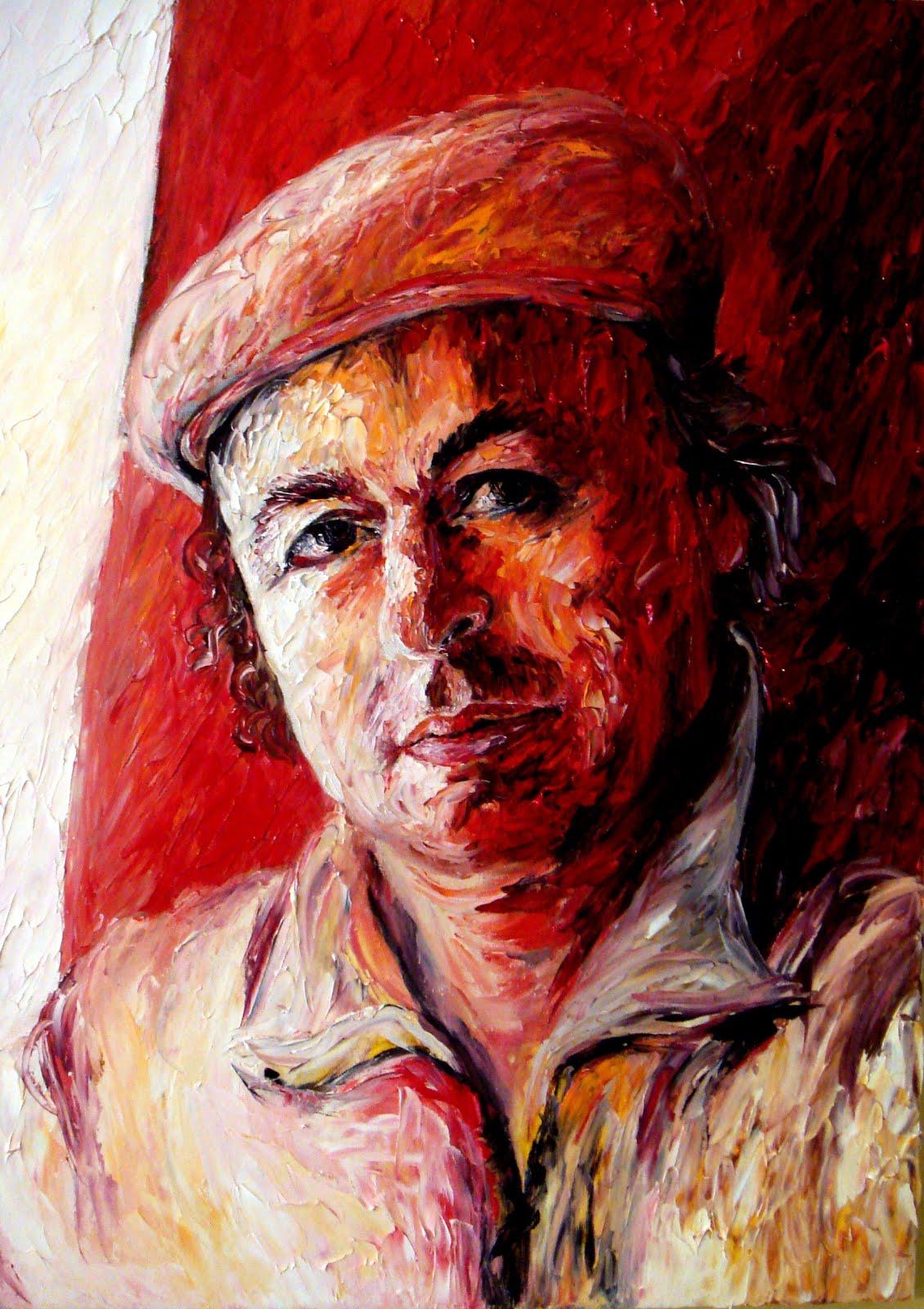 Kolec Traboini, portret oil kanavac nga M.Toçila