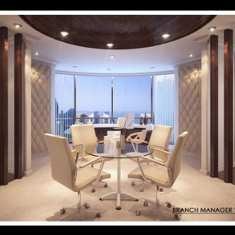 3d interior design branch manager office texture for Manager office design