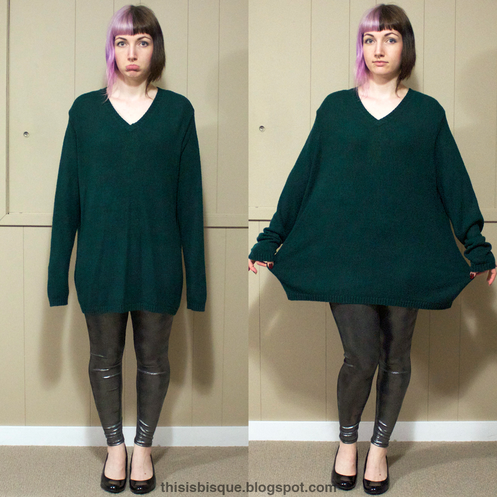 how to wear an oversized sweater dress