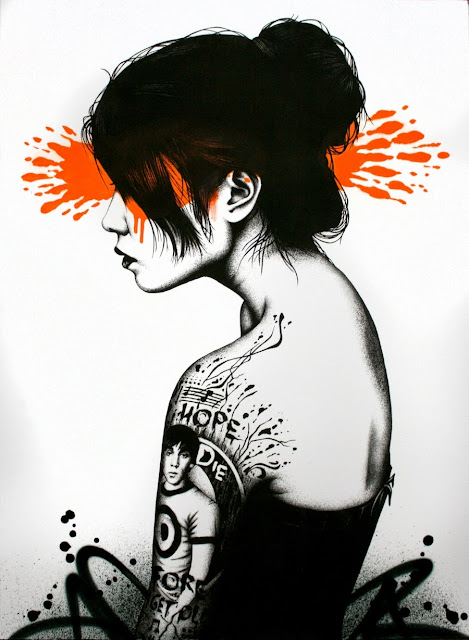 Moonchild print by street artist FinDac