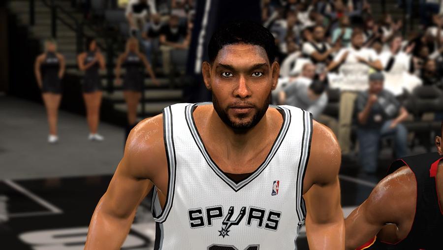 NBA 2K14 Tim Duncan Mini Afro Hair Mod