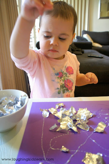 Valuing process over product in this activity for children using Foil