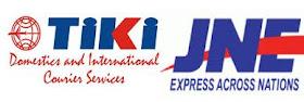 Dalam pengiriman barang kami menjalin kerja sama dengan JNE dan TIKI.,