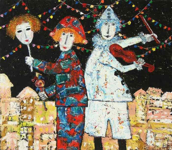 Картины мастихином. Elin Bogomolnik