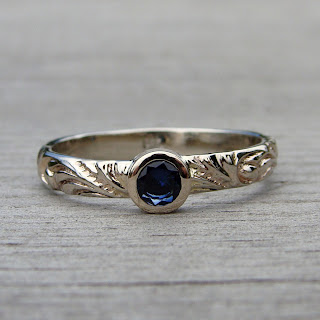 delicate sapphire ring