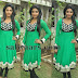 Dhanshika in Green Churidar