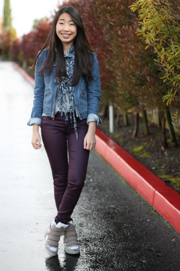 sneaker wedges outfit spring