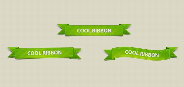 PSD Green Ribbons Pack