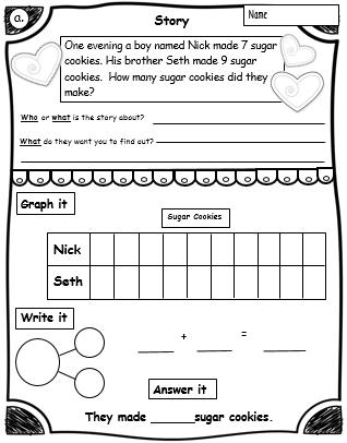 Number Bonds 1st Grade Math