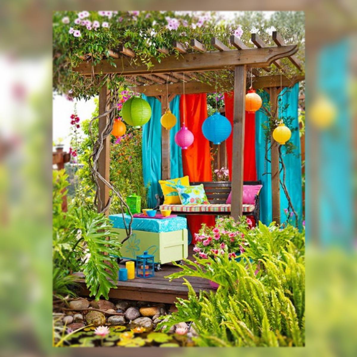 Decoraci n vida telas y decoraci n al aire libre la for Comedor al aire libre