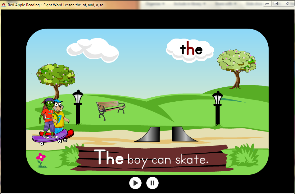 """The"", t-h-e spells ""the"", as in The boy can skate."