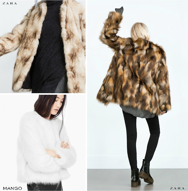 Zara fur coats