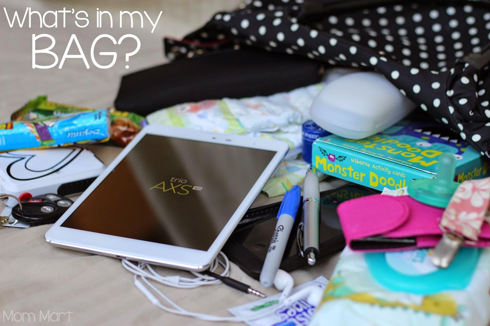 Whats In My Bag TMobile Trio AXS Tablet #TabletTrio #CollectiveBias #shop #Tech