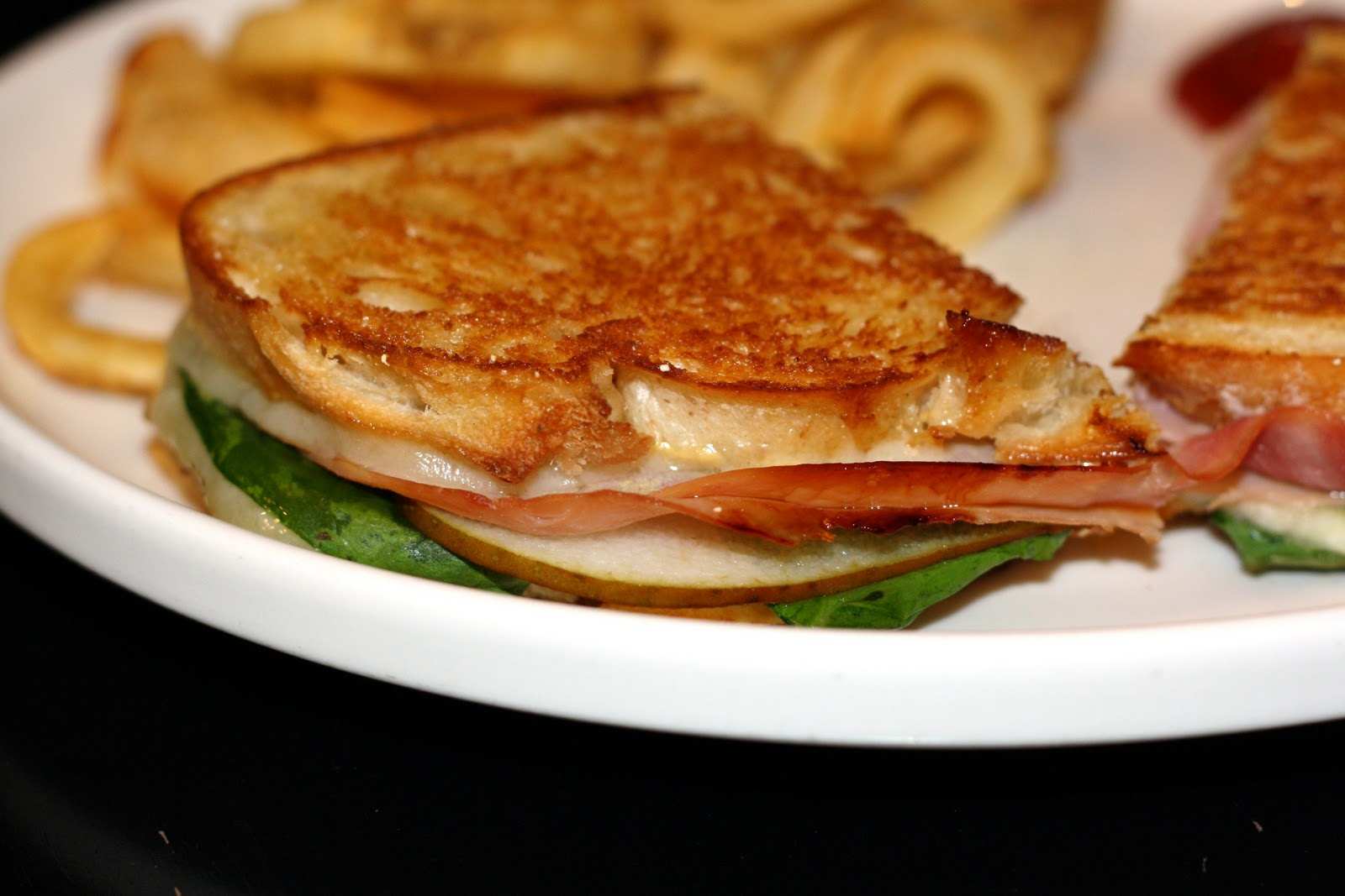 what's for dinner?: pressed ham and pear sandwiches... 20 minutes