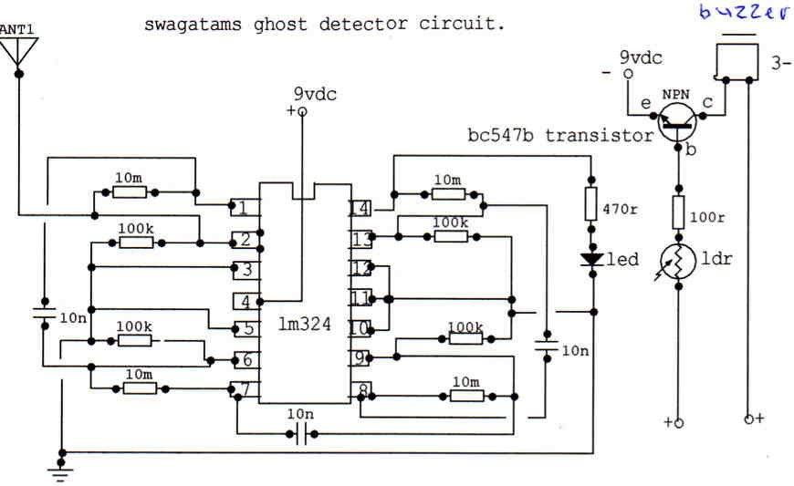 ghost detector circuit prototype images
