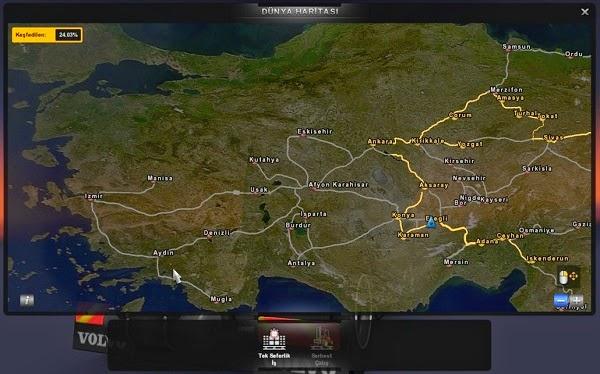 Euro Truck Simulator 2 Türkiye Harita Modu İndir