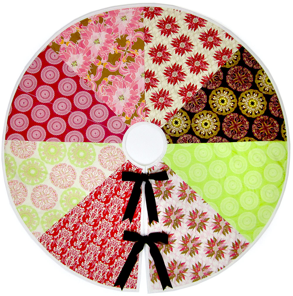 Quilt Inspiration Free Pattern Day Christmas Tree Skirts