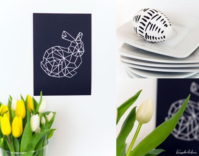 osterdeko basteln mit garn und papier freebie diy blog von anastasia. Black Bedroom Furniture Sets. Home Design Ideas