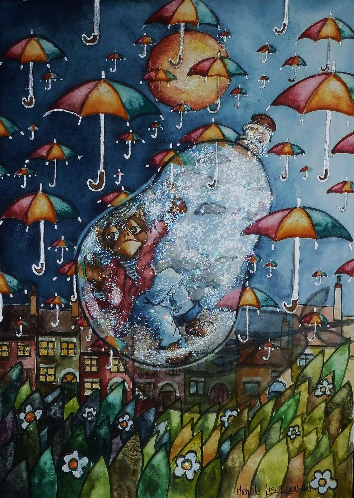 Miroir et mascarade la t te dans les nuages for Miroir de peine