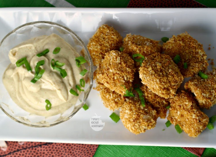 Sweet n' Crunchy Chicken Nuggets w/Spicy Mustard Dip | Renee's Kitchen Adventures Baked not fried!