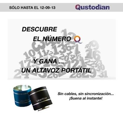 Altavoces gratis sorteo Qustodian