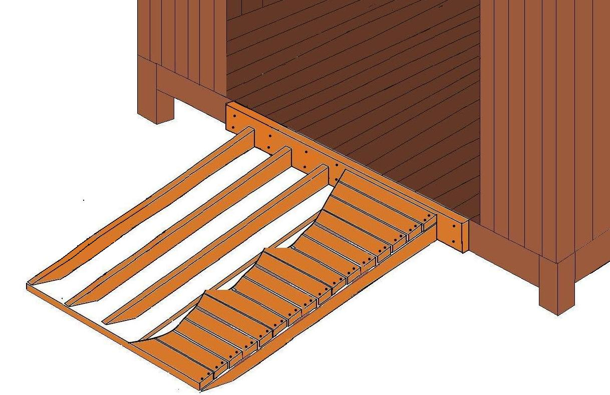 How to build a wooden ramp for shed uk