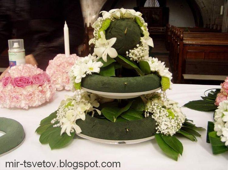 Торт из цветов своими руками