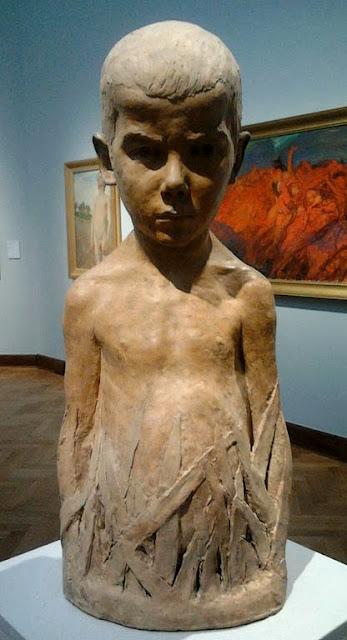 Mikołaj Szlifierz (Szlifirz) - Chłopiec (Wiosna). Rzeźba w zbiorach Muzeum Narodowego w Warszawie. Foto Burgeres SF - internet.