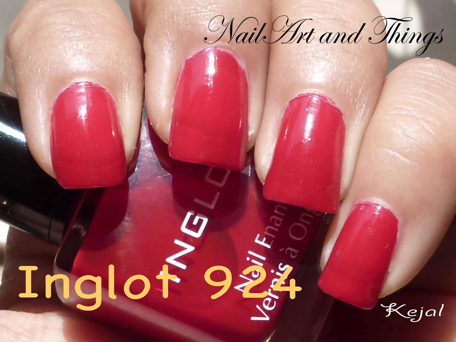 NailArt and Things: Layering: Inglot 924 + Kleancolor Chunky Holo ...