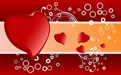 Bonita postal para el día del amor y la amistad