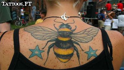 How to Tattoo Abelha e estrelas
